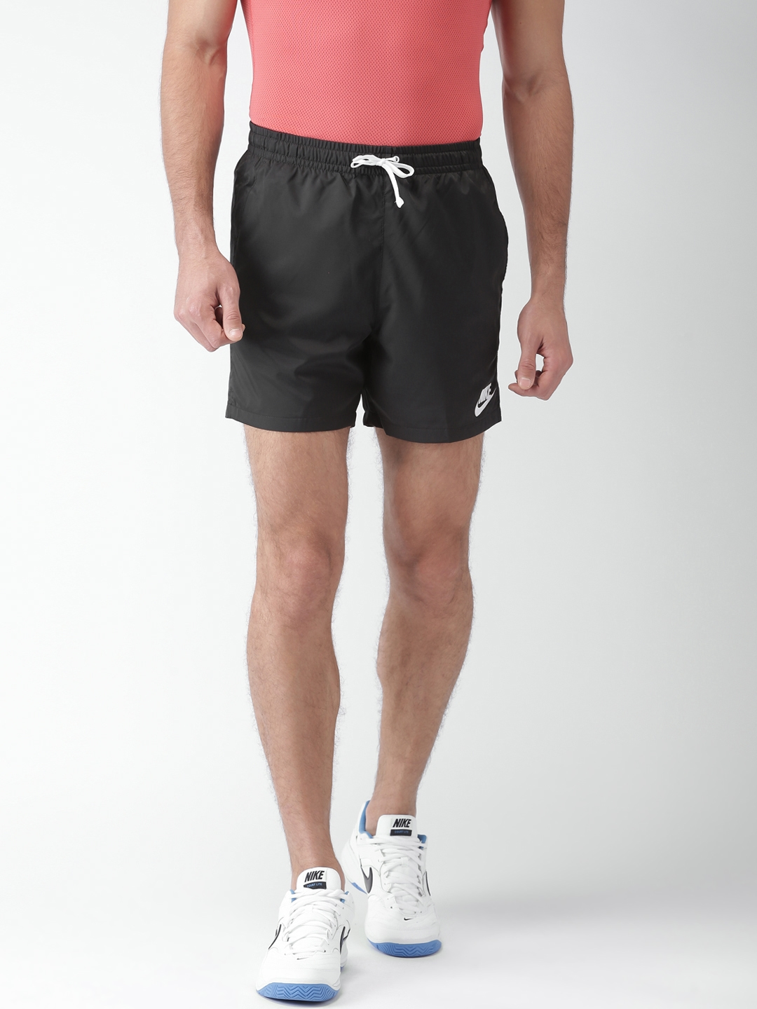 Buy Nike Black NSW WVN Flow Standard Fit Sports Shorts - Shorts for ... a4849b17da