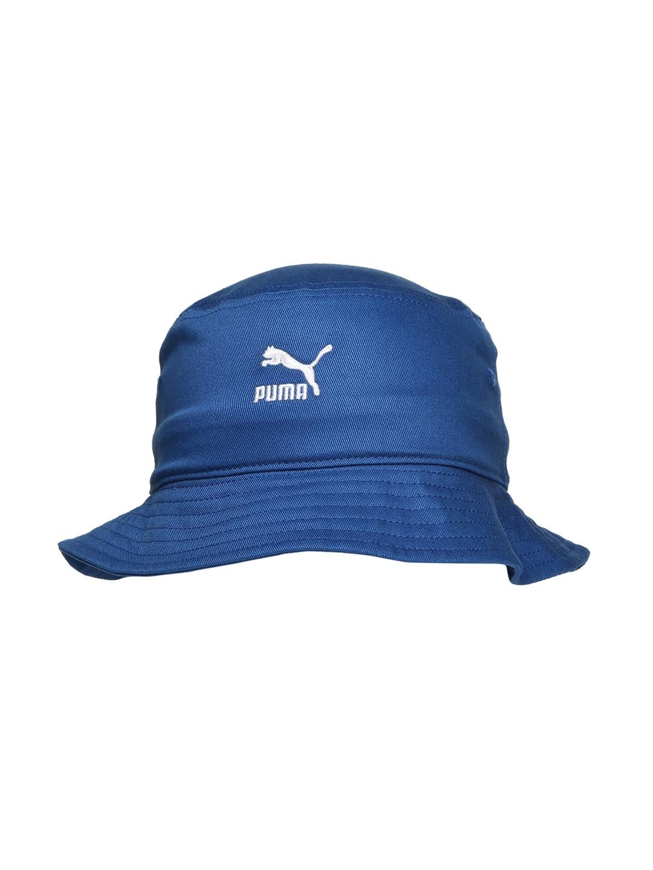 Buy Puma Unisex Blue Bucket Hat - Hat for Unisex 1919850  8fdef231b57