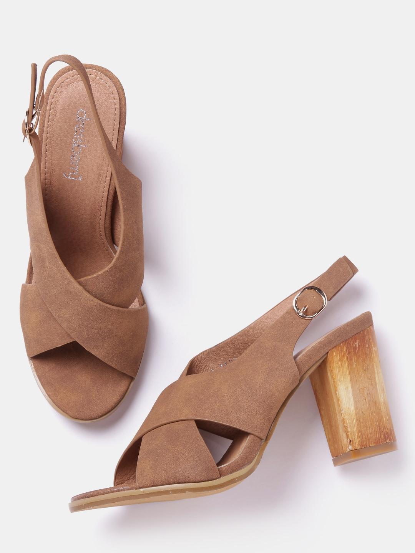 b0b5aa44b442 Buy DressBerry Women Brown Solid Block Heels - Heels for Women ...