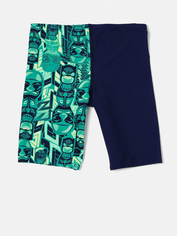 b24c0c3b14 Buy Speedo Boys Navy & Green Printed Swim Shorts 808686B518 ...