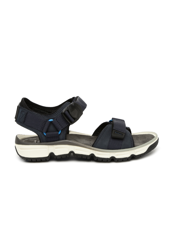 Buy Clarks Men Navy Blue Explore Part Comfort Sandals - Sandals for ...