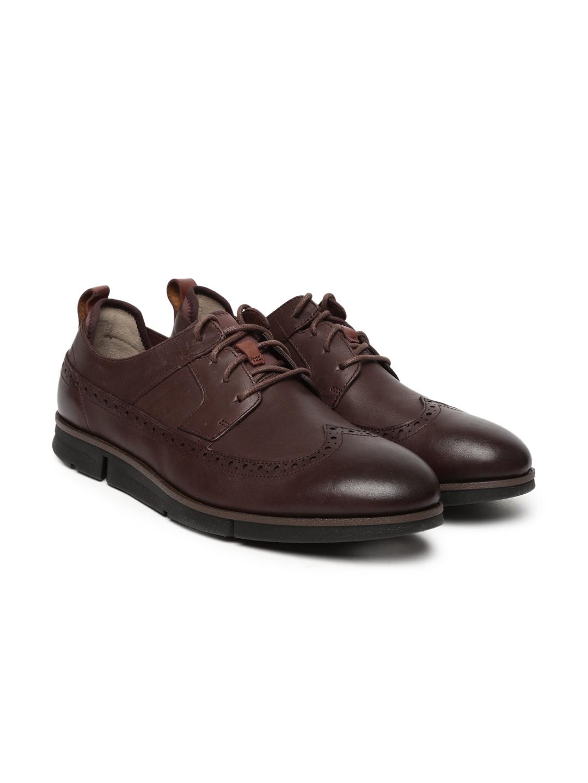 84e5cc7f4873 Buy Clarks Men Brown Trigen Limit Chestnut Brogues - Casual Shoes ...
