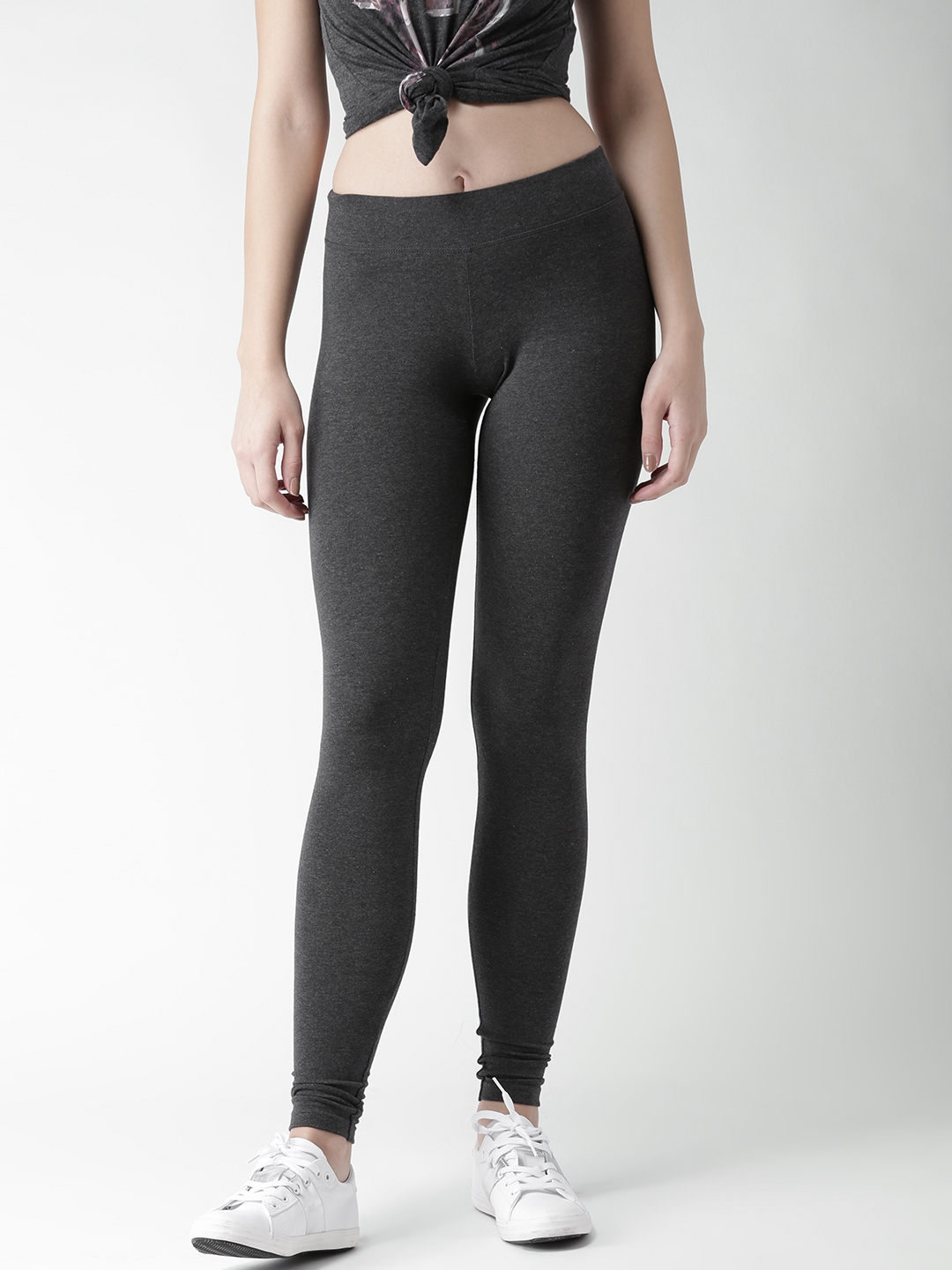 fcd285f362 Buy Aeropostale Charcoal Grey Leggings - Leggings for Women 1931701 ...