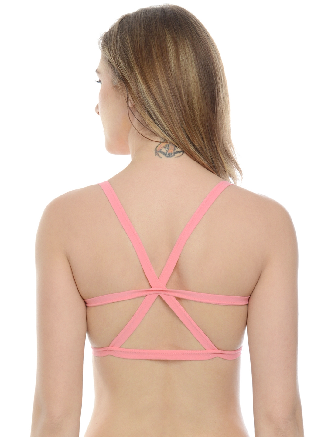 fe492bd088 Buy Da Intimo Pink Solid Non Wired Lightly Padded Bralette DI 832 ...