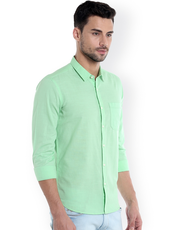ea2ef4f289 Buy Numero Uno Men Green Slim Fit Casual Shirt - Shirts for Men ...