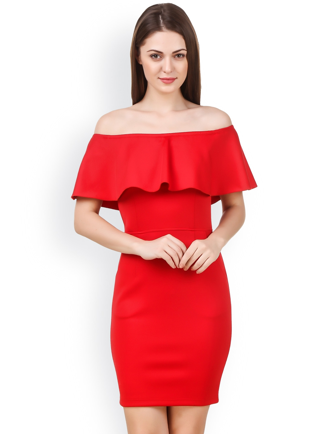 805010025a Buy Texco Women Red Solid Bodycon Dress - Dresses for Women 1939838 ...
