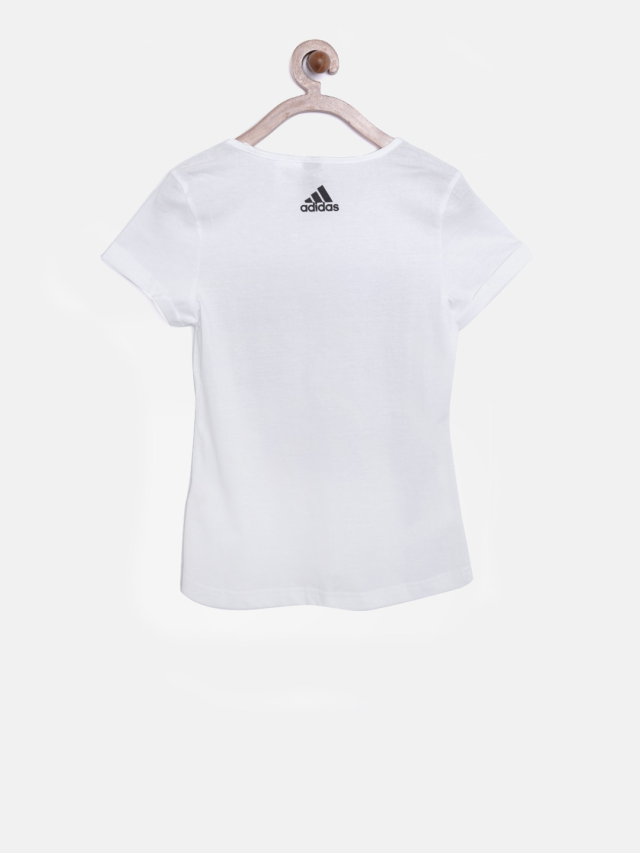 54aea371089 Buy ADIDAS Girls White YSPORT ID Printed Round Neck T Shirt ...