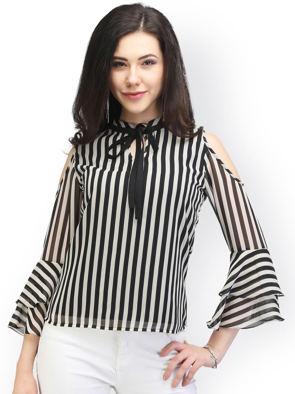 2422144bd20ee3 Buy Eavan Women Black   White Striped Top - Tops for Women 1942405 ...