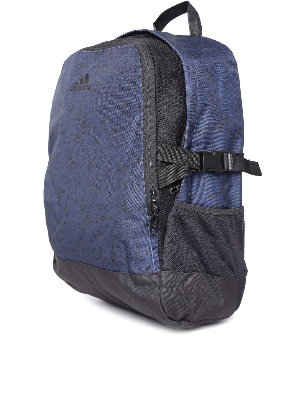 Buy ADIDAS Unisex Navy Blue   Black Power III LG Laptop Backpack ... a37ecd00bbe54