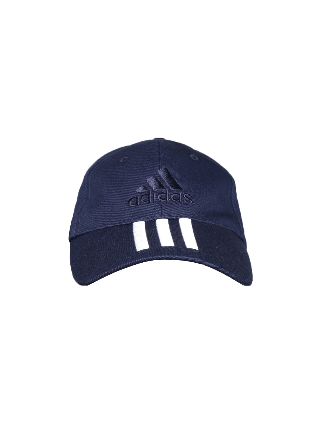 390fcae84f4 Buy ADIDAS Unisex Navy 6 Panel 3 Stripes Cotton Training Cap - Caps ...