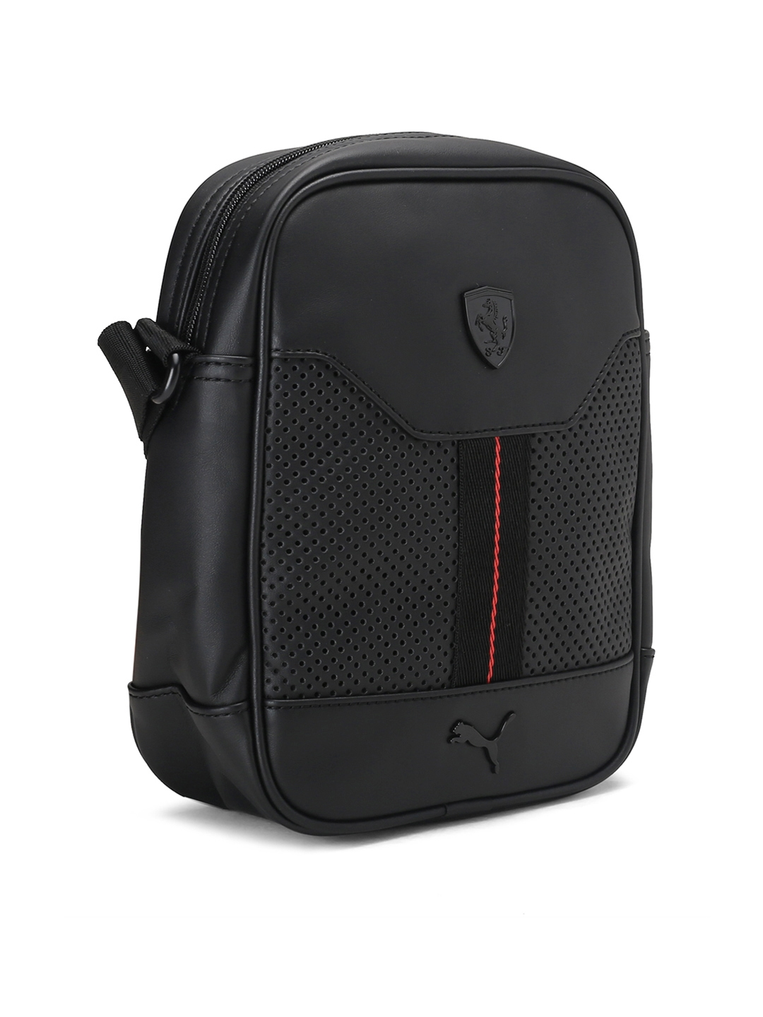 Buy Puma Unisex Black Solid Ferrari LS Portable Messenger Bag ... ebac82407dd55