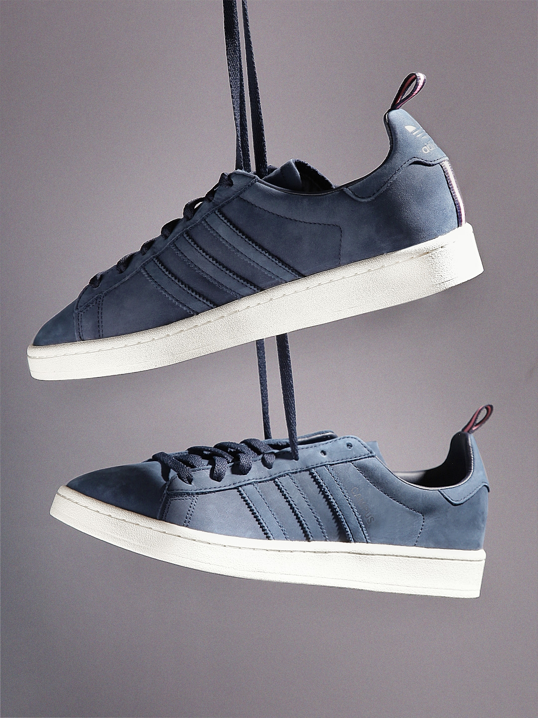 tout neuf 9321b 370e7 ADIDAS Originals Men Navy CAMPUS Leather Sneakers