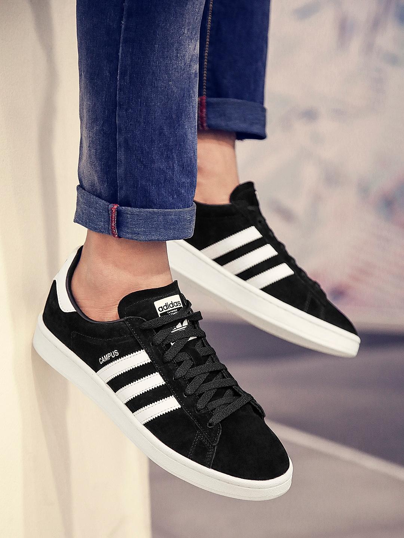 super popular e94cf 29136 ADIDAS Originals Men Black CAMPUS Sneakers