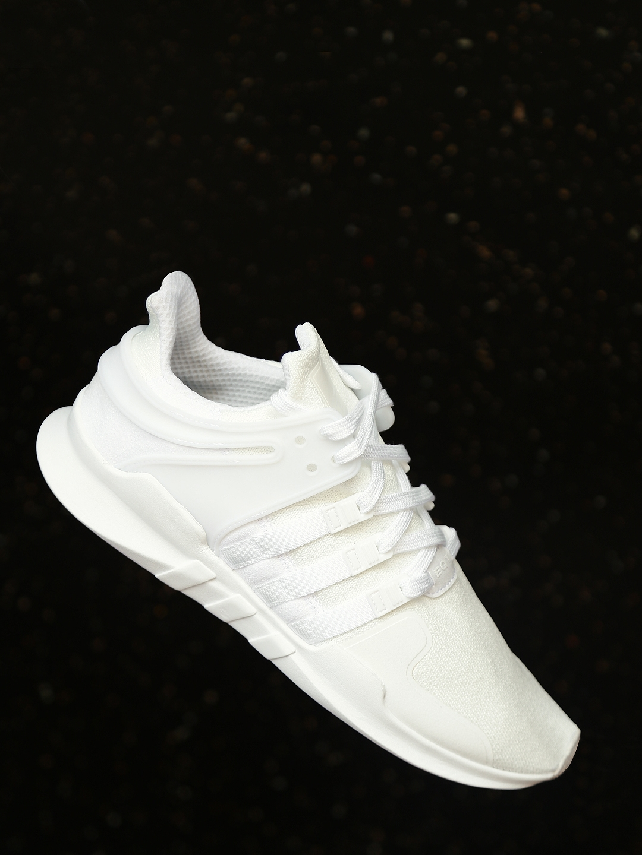 best service 9ae28 302bd ADIDAS Originals Men White EQT Support ADV Sneakers