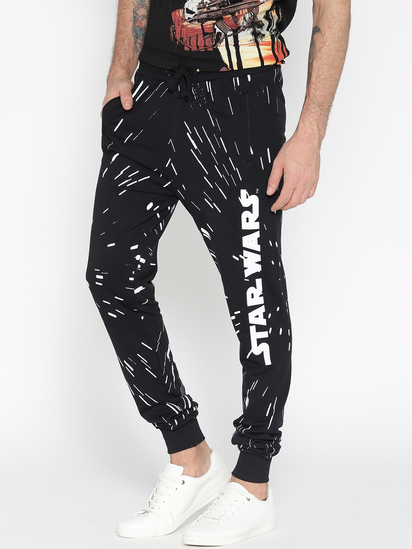 7b29d4500692 Buy STAR WARS Black Printed Joggers - Track Pants for Men 1945229 ...