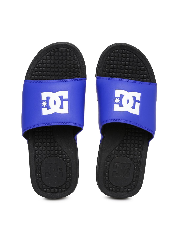 b0a39919aec5 Buy DC Men Blue   White BOLSA M Flip Flops - Flip Flops for Men ...