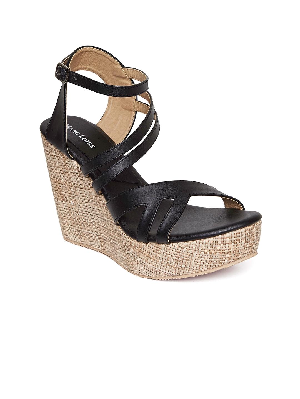 f5614347b Buy Marc Loire Women Black Basketweave Wedges - Heels for Women ...