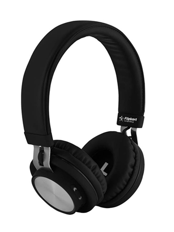 4bd3d18e441 Buy Flipkart SmartBuy Black Wireless Bluetooth Headphones With Mic -  Headphones for Unisex 1951397   Myntra