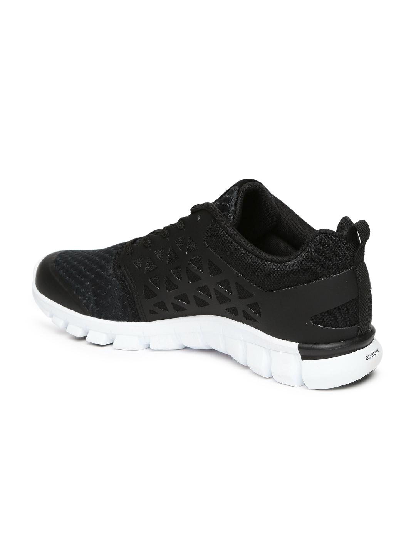 Buy Reebok Men Black Sublite XT Cushion 2.0 Running Shoes - Sports ... 7e87d820d