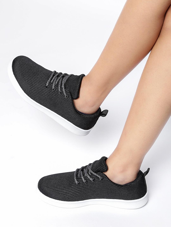 60722b0e36 Buy Ether Women Black Sneakers - Casual Shoes for Women 1953968 | Myntra