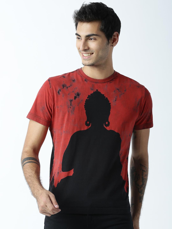 e069c68bd8f34d Buy Huetrap Men Black Buddha Print Round Neck T Shirt - Tshirts for ...