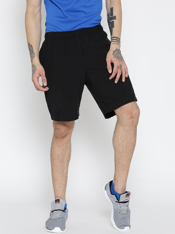 8dd89acf036 Buy Reebok Men Black EL SFT Polyester Solid Training Shorts - Shorts ...