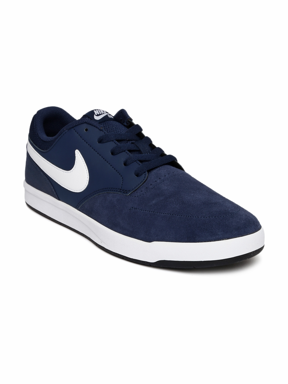 5d9fe23a861153 Buy Nike Men Navy Blue Leather SB FOKUS Skate Shoes - Casual Shoes ...