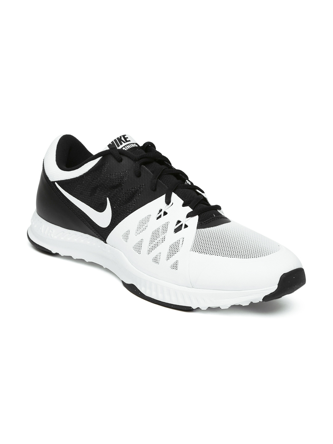 nike shoes white and black. nike men white \u0026 black air speed tr ii training shoes and