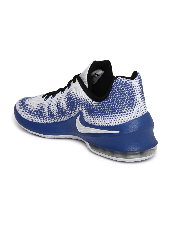brand new d4da6 e82ed Nike Men White AIR MAX INFURIATE LOW Basketball Shoes