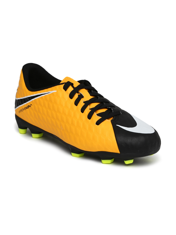 various colors cb0e2 de3cd Nike Kids Neon Orange   Black JR HYPERVENOM PHADE III FG Football Shoes