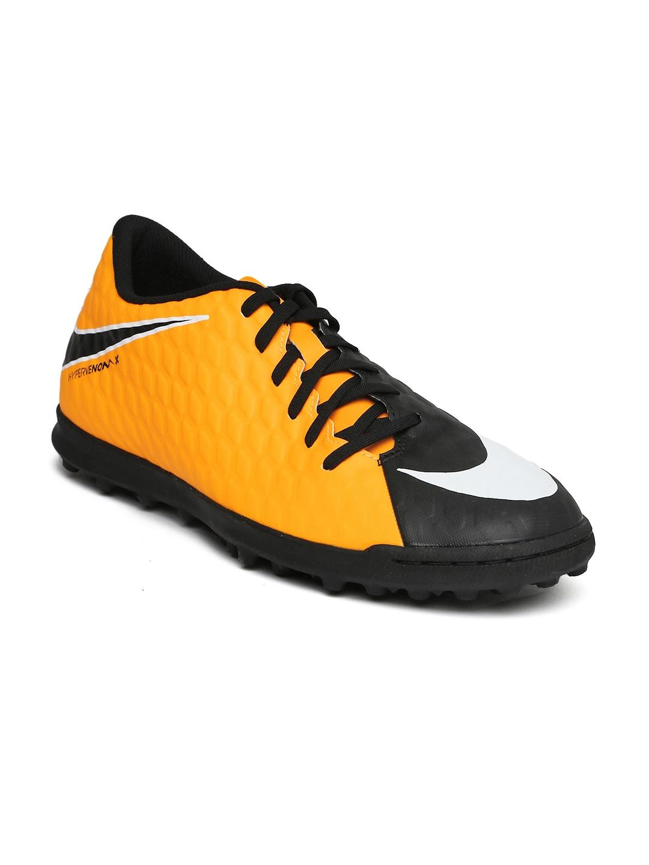 615b245de07749 Buy Nike Kids Neon Orange & Black HYPERVENOMX PHADE III IC Football ...