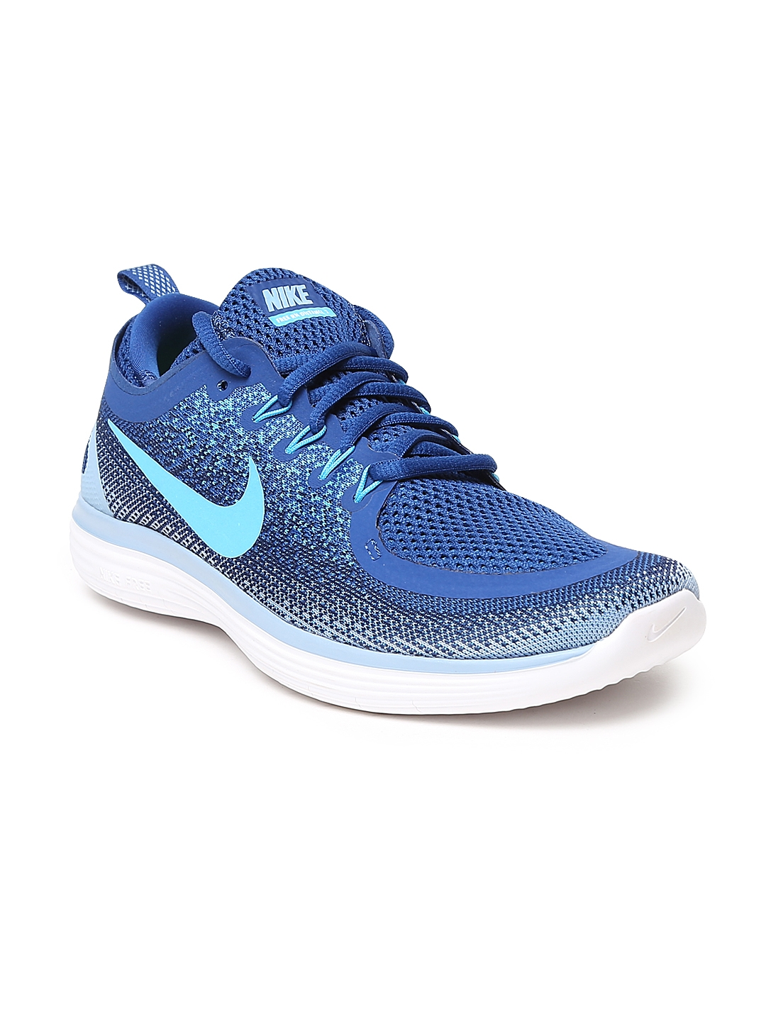 4f48f1d3be77 Buy Nike Men Blue FREE RN DISTANCE 2 Running Shoes - Sports Shoes ...