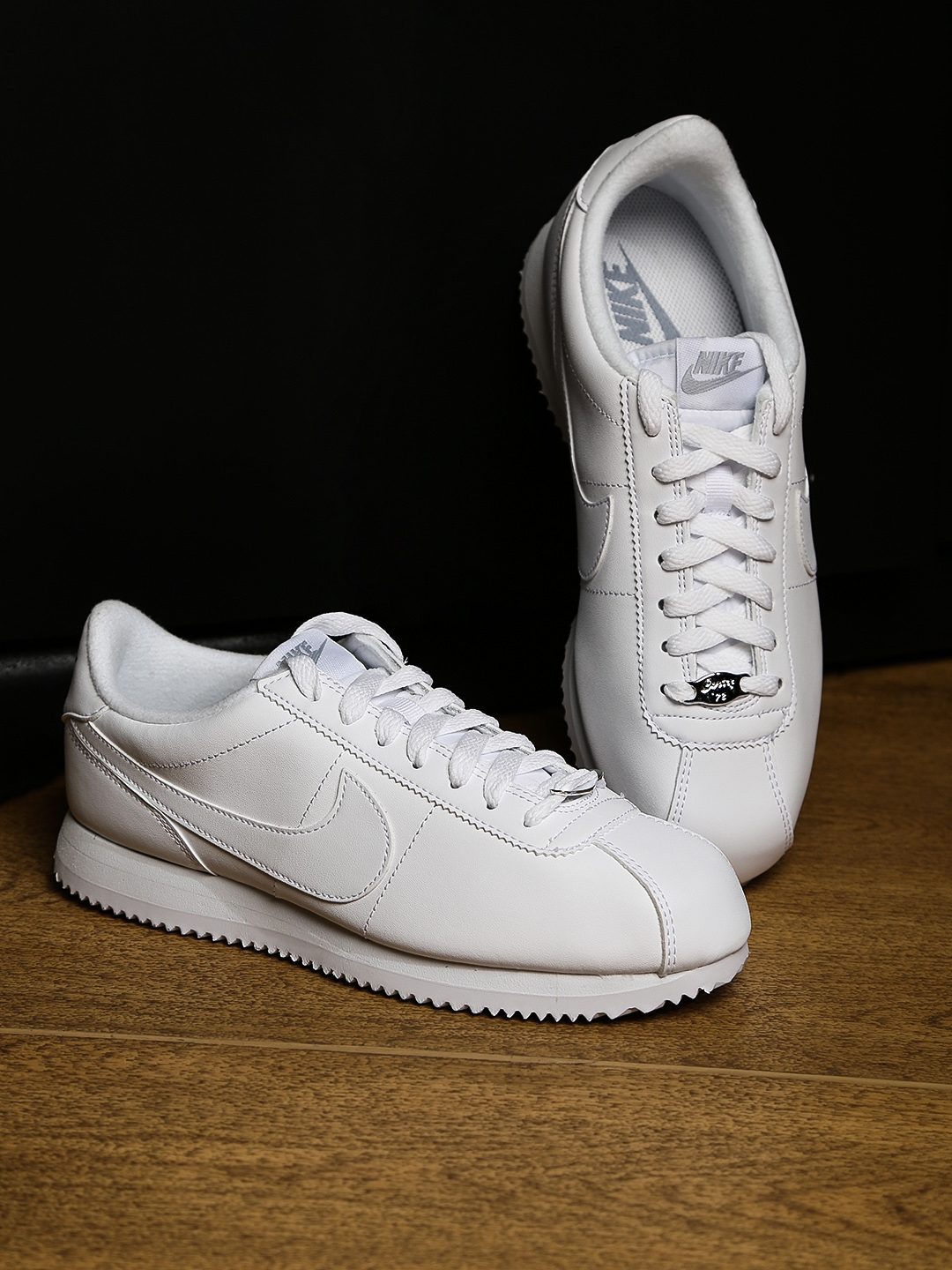 552d203d6284 Buy Nike Men White Cortez Basic Leather Sneakers - Casual Shoes for ...