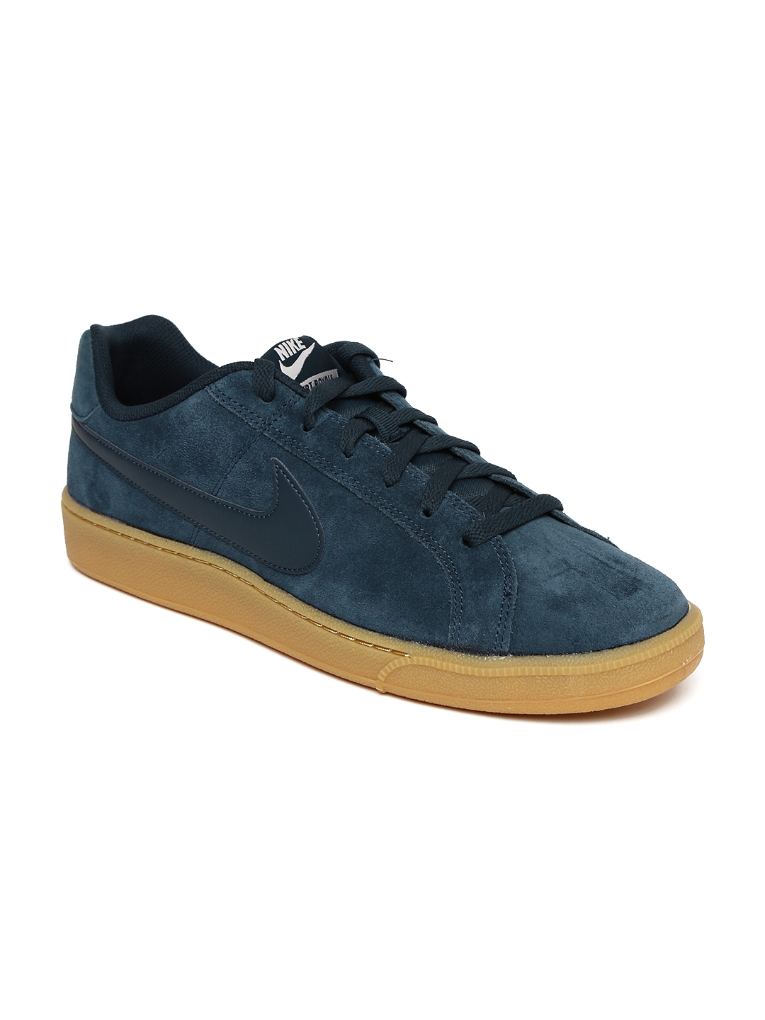 Todos los años cada vez saltar  Buy Nike Men Navy Blue COURT ROYALE SUEDE Sneakers - Casual Shoes for Men  1962929 | Myntra