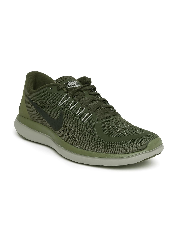 7bffd3221e51 Buy Nike Men Olive Green FLEX 2017 RN Running Shoes - Sports Shoes ...