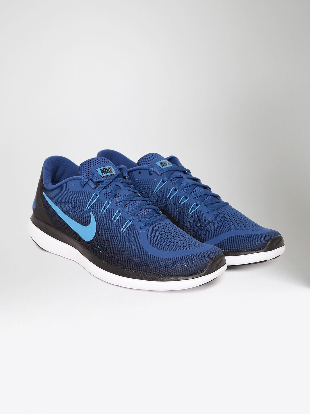 nike running shoes. nike men blue flex 2017 running shoes
