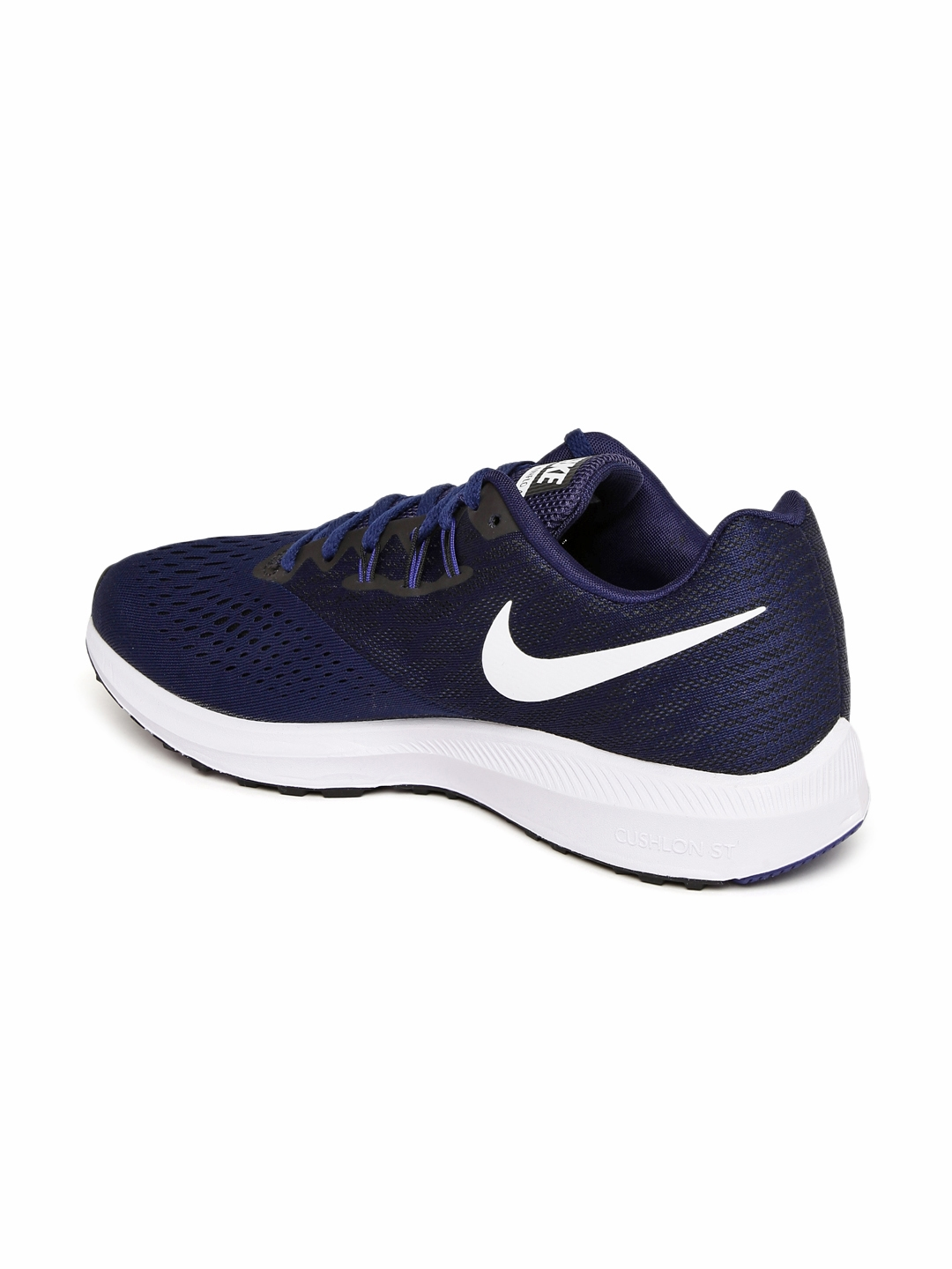 79d9dcaec604a Buy Nike Men Navy Blue ZOOM WINFLO 4 Running Shoes - Sports Shoes ...