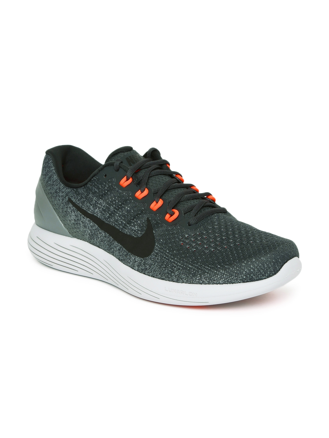 finest selection 09a87 a03fd Nike Men Charcoal Grey LUNARGLIDE 9 Running Shoes