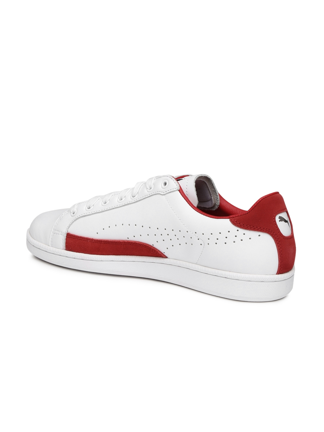 9b162399eee Buy Puma Men White   Red Colourblocked Match 74 UPC Leather Sneakers ...