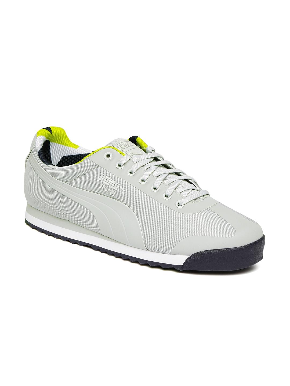 a2af79b0f054 Buy Puma Men Grey Solid Roma Basic Geometric Camo Regular Sneakers ...
