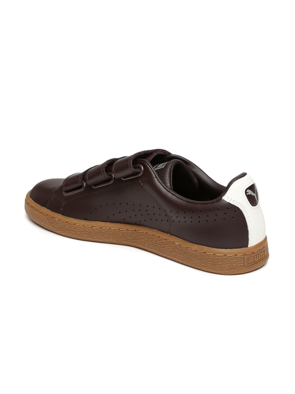 a0844666ffd Buy Puma Men Coffee Brown Basket Classic Strap CITI Leather Sneakers ...
