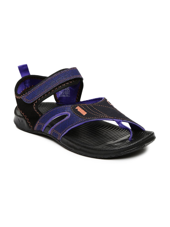34ea160941b8 Buy PUMA Unisex Black   Blue Jiff 5 Sports Sandals - Sandals for Men  1965780
