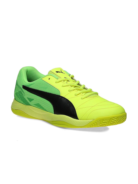 Buy Puma Men Yellow \u0026 Fluorescent Green