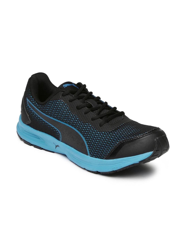 db44abb147e Buy Puma Men Black   Blue Heritage Running Shoes - Sports Shoes for ...