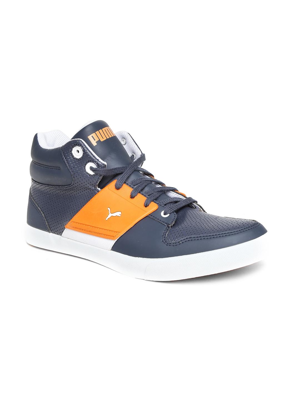 2f1262b96ad6 Buy PUMA Men Navy   Orange El Ace 2 PN II DP Sneakers - Casual Shoes ...
