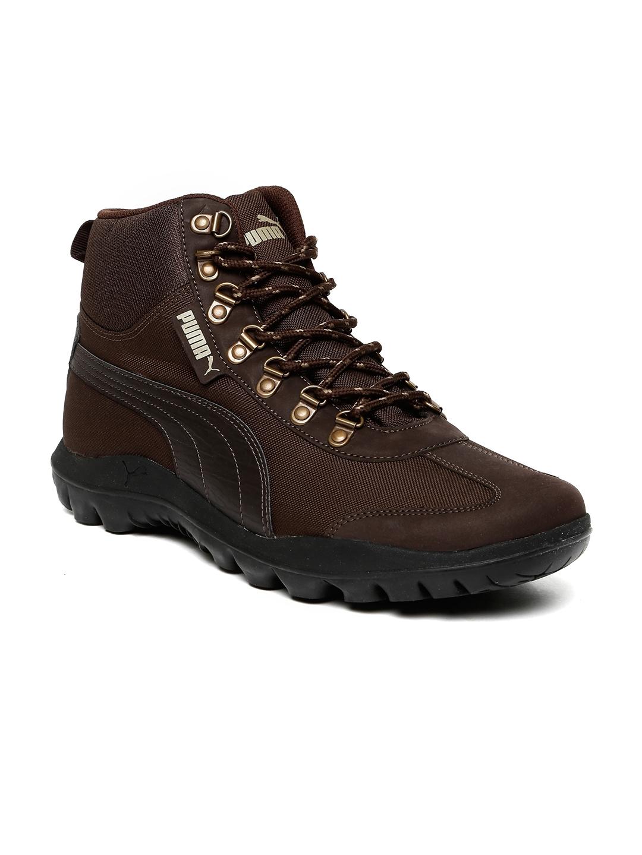 Buy Puma Men Coffee Brown Tatau Fur Boot 2 IDP High Top Sneakers ... 1c9d50f12