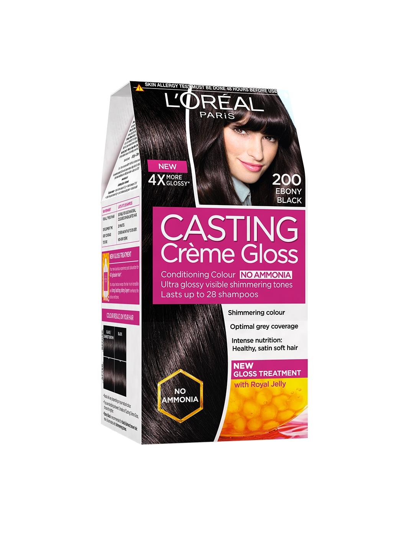 Loreal Paris Casting Creme Gloss Ebony Black Hair Colour 200