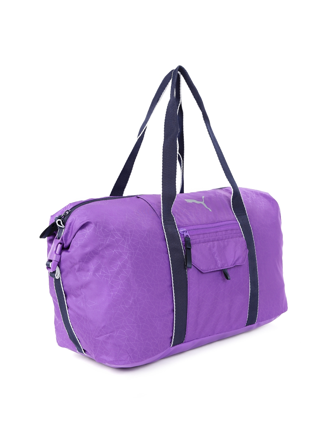 1877b1a92c Buy PUMA Women Purple Fit At Workout Printed Duffel Bag - Duffel Bag ...