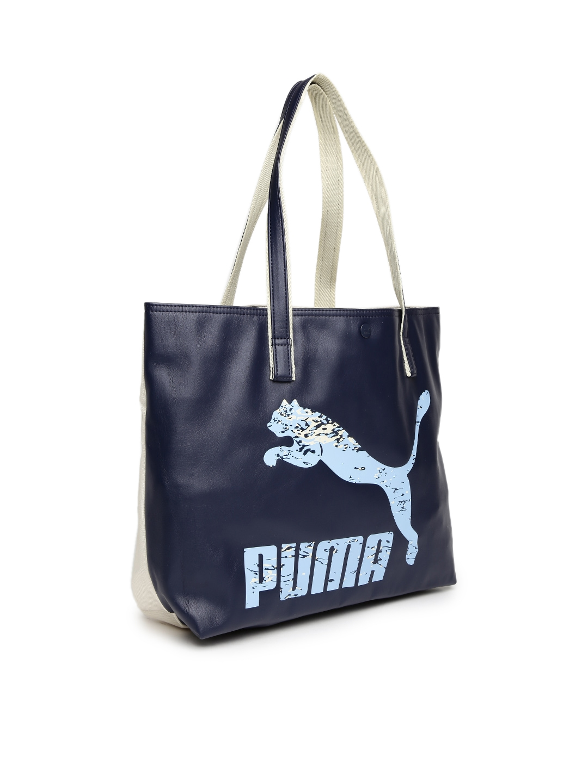 e726ea0fe5 Buy PUMA Navy Printed Archive Shopper Tote Bag - Handbags for Women ...