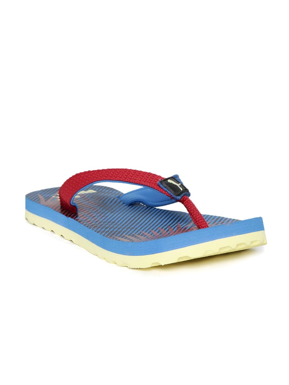 4227cbfaf Buy PUMA Kids Blue   Red Printed Terry PS II IDP Flip Flops - Flip ...